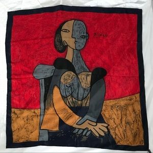 Large Picasso silk scarf